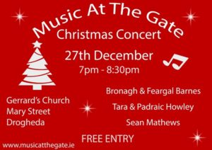 Music at the Gate Christmas Concert - Poster